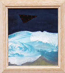 NED EVANS + DAVID LLOYD - UFO #6, unidentified flying object, collage, painting, abstract