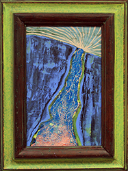 NED EVANS - W-16, waterfall, collage, painting