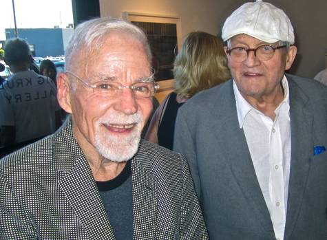 Don Bachardy and David Hockney at Craig Krull Gallery, 2013