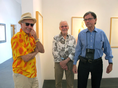 Billy Al Bengston, Don Bachardy, and Julian Wasser at Craig Krull Gallery, 2011