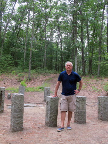Craig Krull at the site of Thoreau's Cabin at Walden Pond, 2013