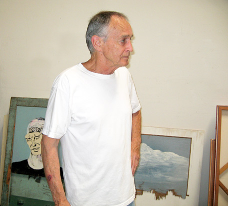 Llyn Foulkes in his studio, 2006