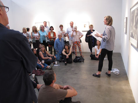 Hilary Brace giving at talk at Craig Krull Gallery, 2014