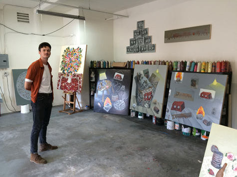 Mark Posey in his studio, 2015