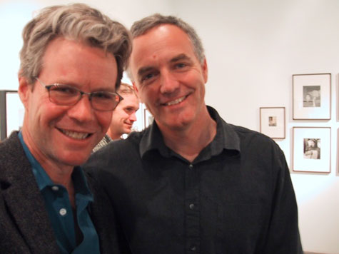 Mark Swope and Craig Krull at John Swope's exhibition, Camera Over Hollywood