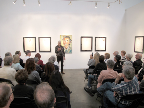 Don Bachardy giving a talk on his Pacific Standard Time exhibition at Craig Krull Gallery