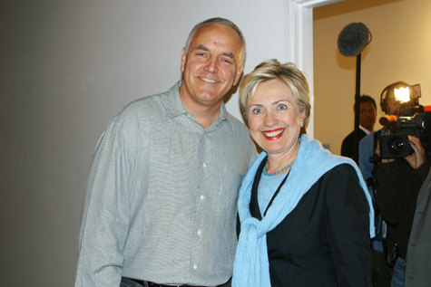 Craig Krull and Hillary Clinton, 2004