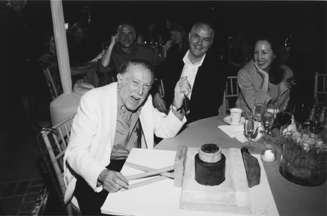 Julius Shulman's 94th birthday, with Craig Krull and Karen Hirshan