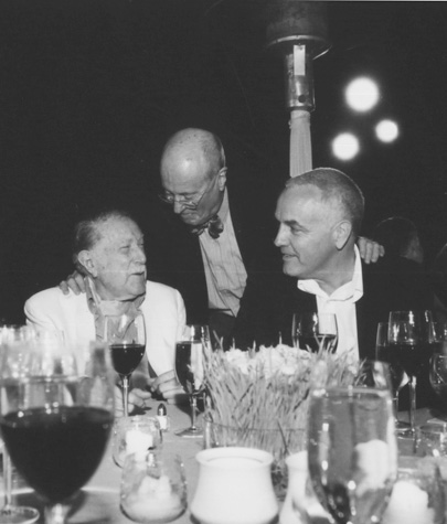 Julius Shulman's 94th Birthday, with Weston Naef and Craig Krull, 2004