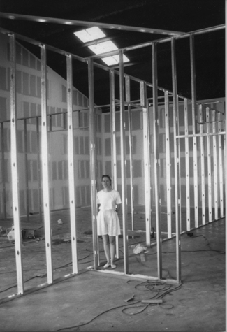 Karen Hirshan at Craig Krull Gallery Under construction, 1994