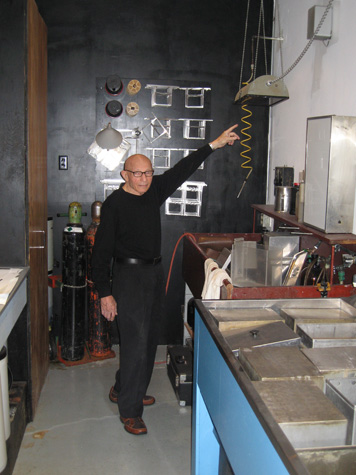 Marvin Rand in his darkroom
