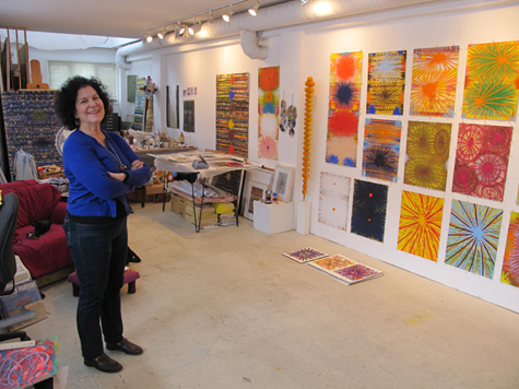 Robin Mitchell in her studio