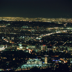 JULIUS SHULMAN, JUERGEN NOGAI - Nighttime View of West Hollywood, 2005